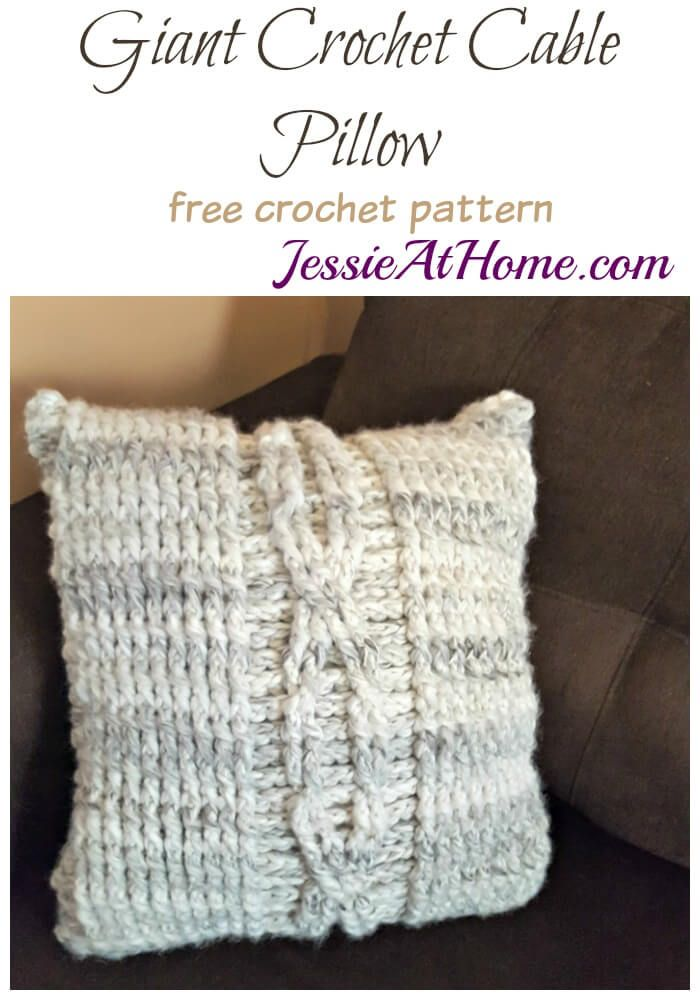 Giant Crochet Cable Pillow   Tela y Tejido