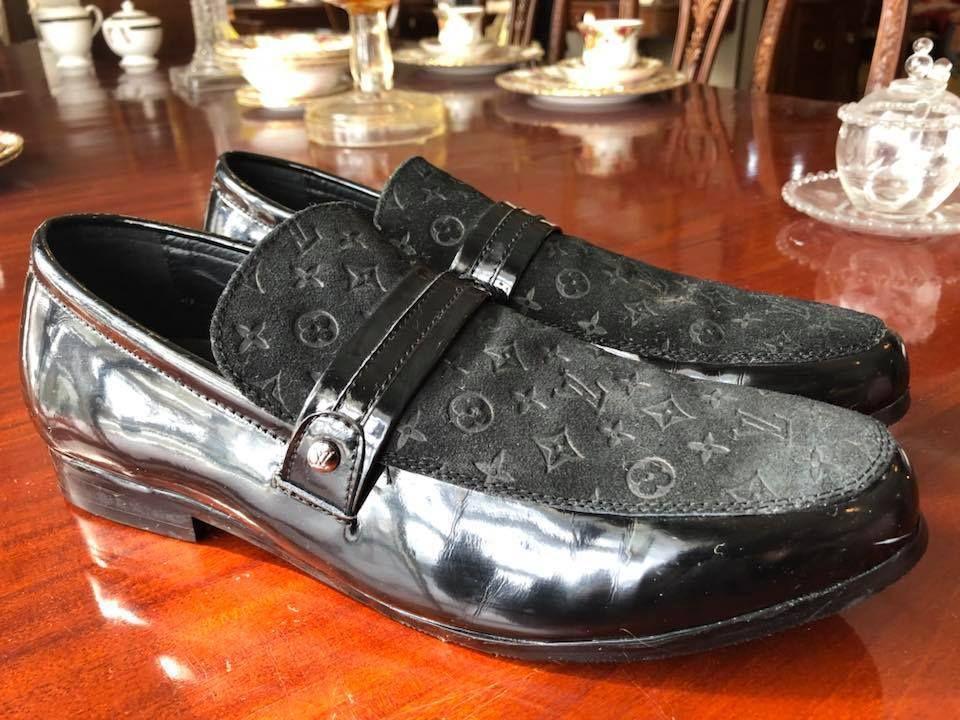 Louis Vuitton size 46 Men Shoes Black SIZE 12 US