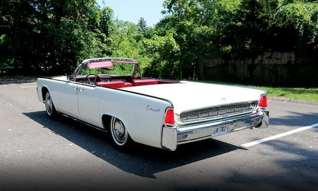 1963 Lincoln Continental Convertible That Carried Texas Gov John