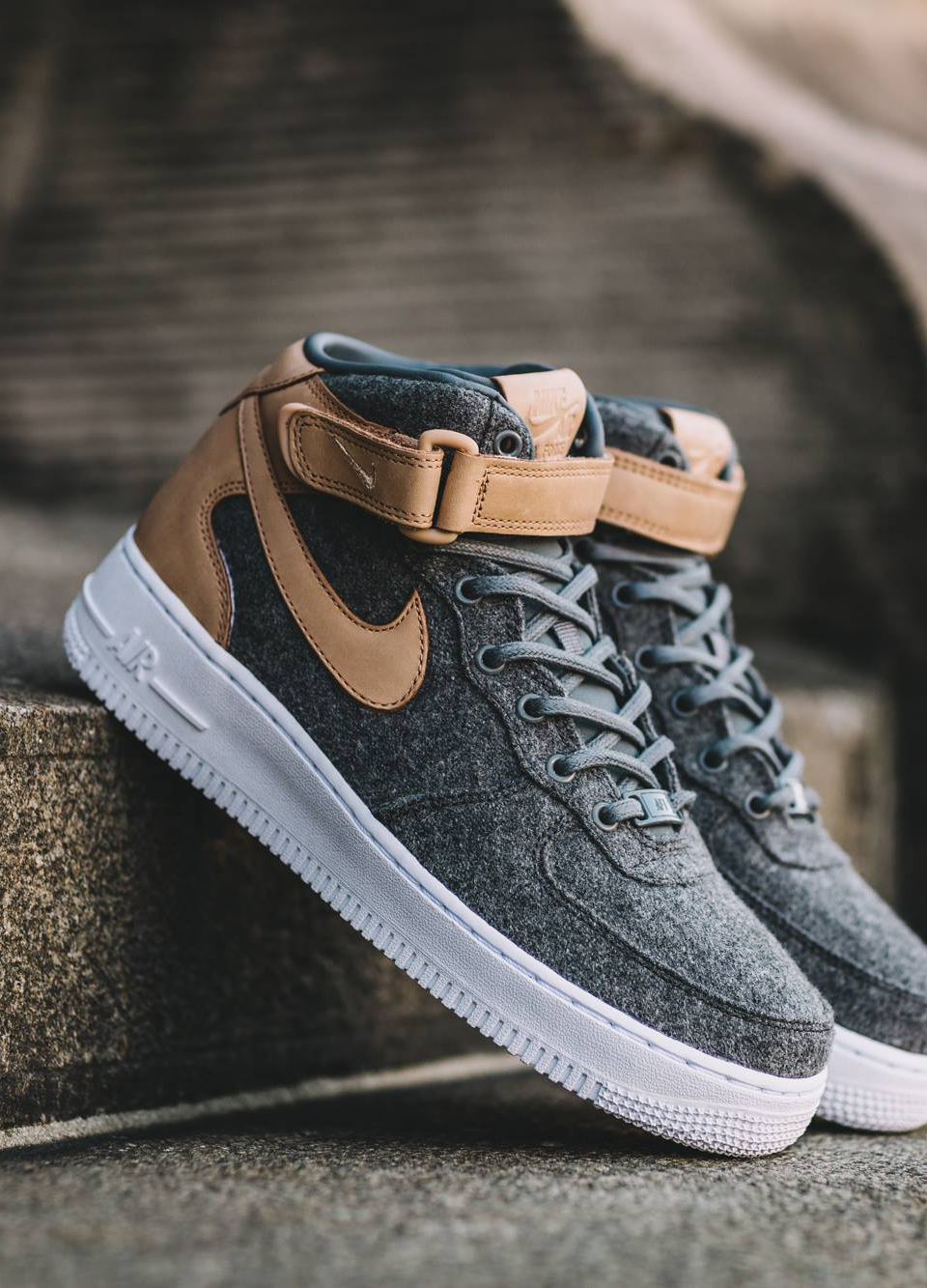 f47bcaec1452 Nike Wmns Air Force 1  07 Mid Leather Premium - sneaker news
