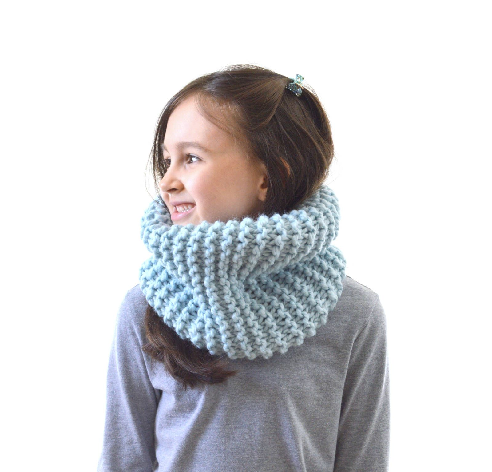 Sherry Kids Knitted Scarf Winter Warm Neck Warmer Boys Girls Solid Color Wrap Scarf
