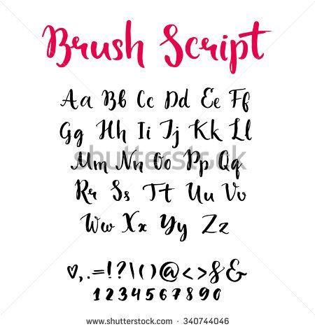 Resultado de imagem para brush lettering alphabet