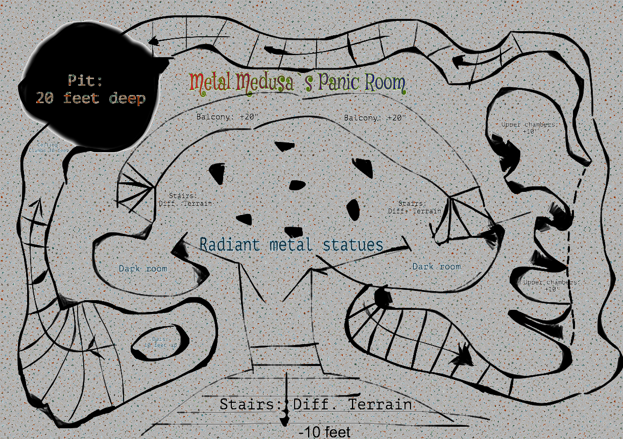 Metal Medusa S Panic Room Map Drawing Made With Sketchpad Https Sketch Io Sketchpad Drawings Map Art