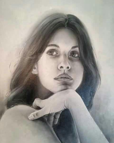 """"""" Adriana """". Oleo sobre tabla. 40 x 50 cm."""