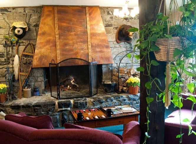 Fireplace Black Bear Inn Located In Bolton Valley Vt Bed And