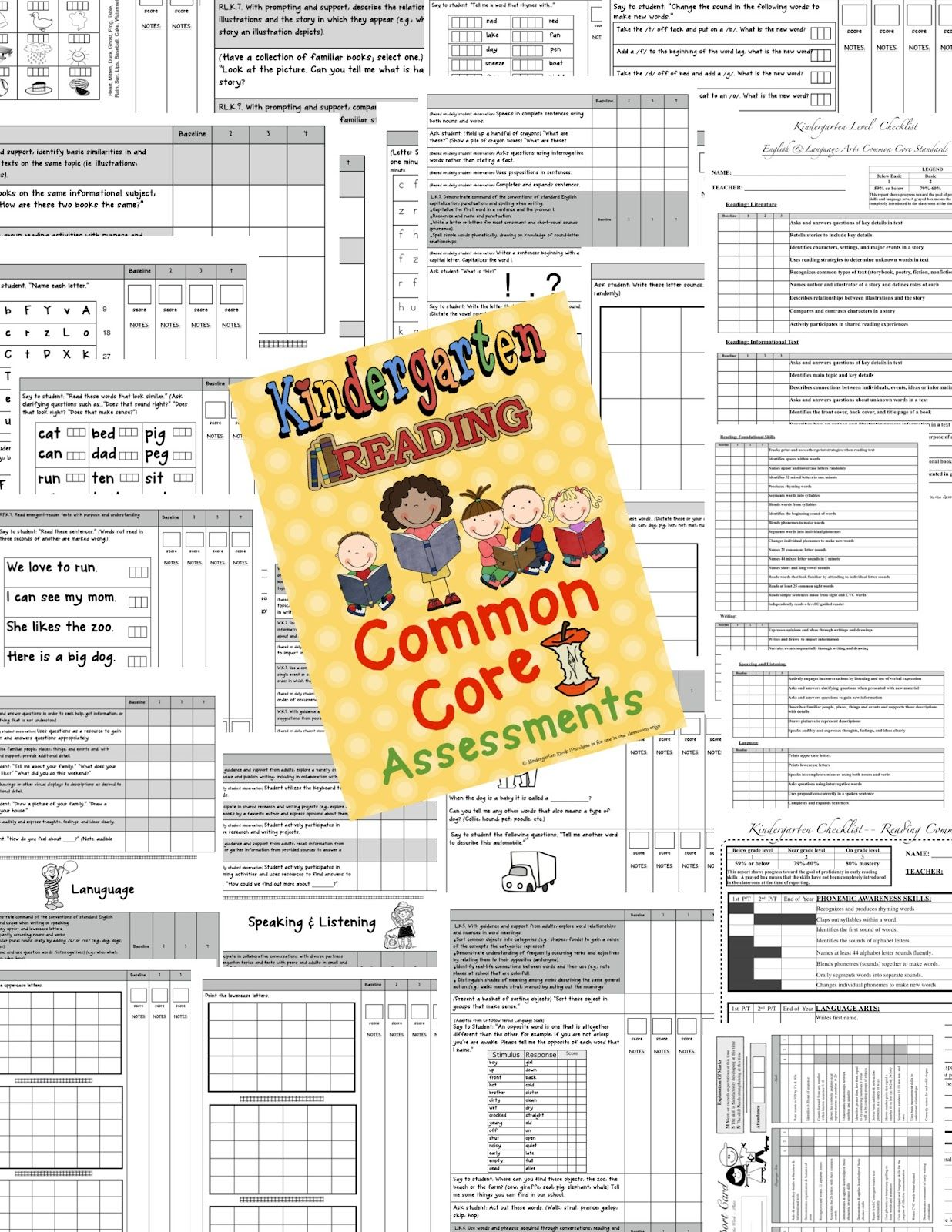 Kindergarten Kiosk Common Core Assessments For