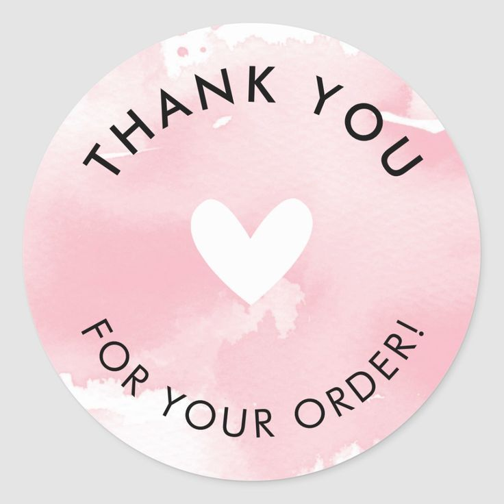PACKAGING PRODUCT LABEL thank you for your order | Zazzle.com