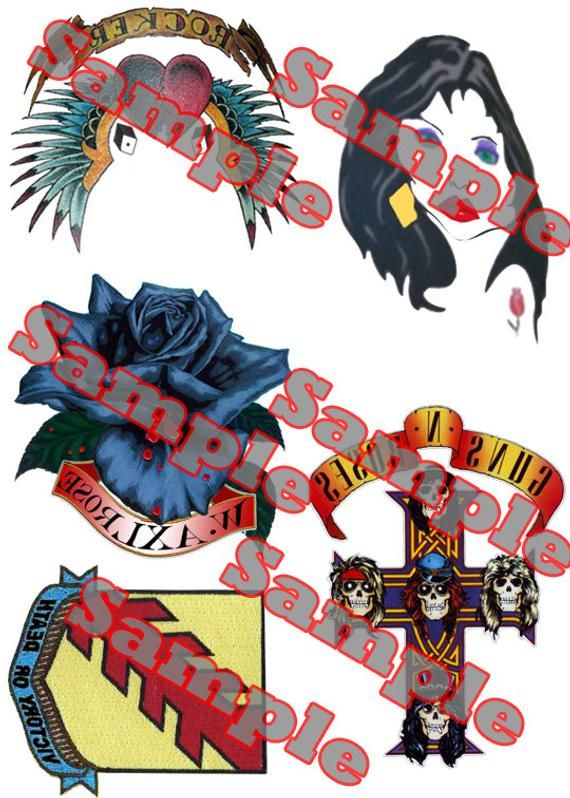 Axl Rose Printed Temporary Tattoos Products Axl Rose