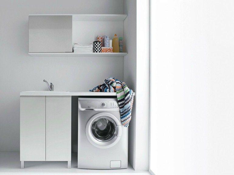armoire de buanderie en bois agglom r m lamin avec vier pour lav salle de bain cuisine. Black Bedroom Furniture Sets. Home Design Ideas
