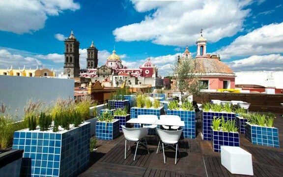 Terraza De La Cafetería Del Museo Amparo En Puebla Puebla