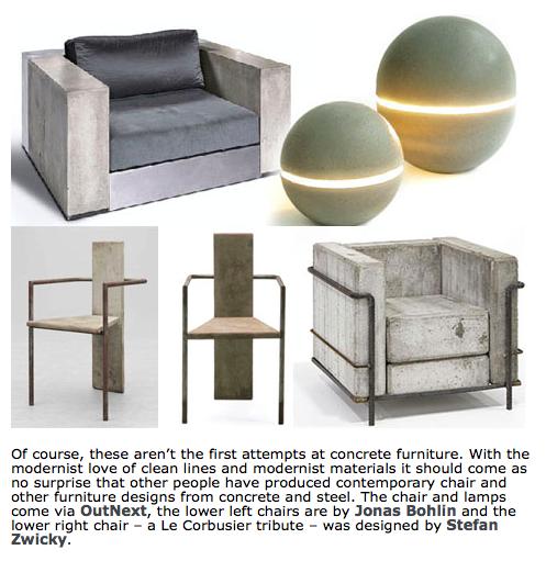 Pin By Elliott C On Elliott S Design Inspiration Concrete Furniture Furniture Chair Design