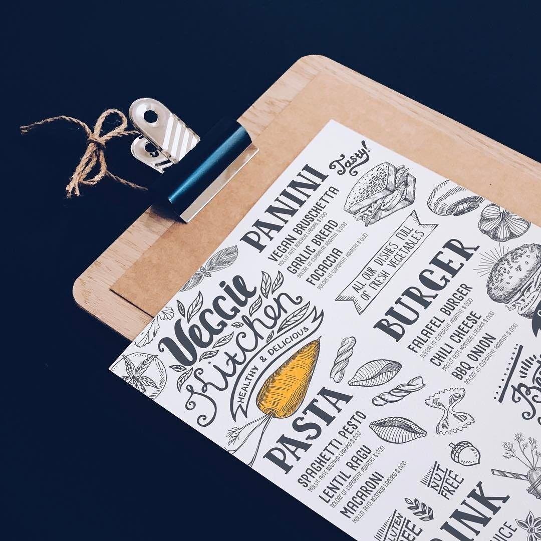 Veggie Menu Template Creative And Modern Vegan Food Menu Templates - Creative menu design templates