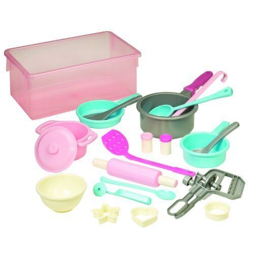 Battat Cookware Playset spoon, pan, rolling pin