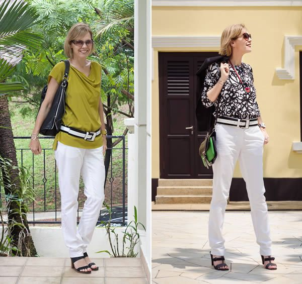 How to wear white pants over 40 lots of outfit ideas with