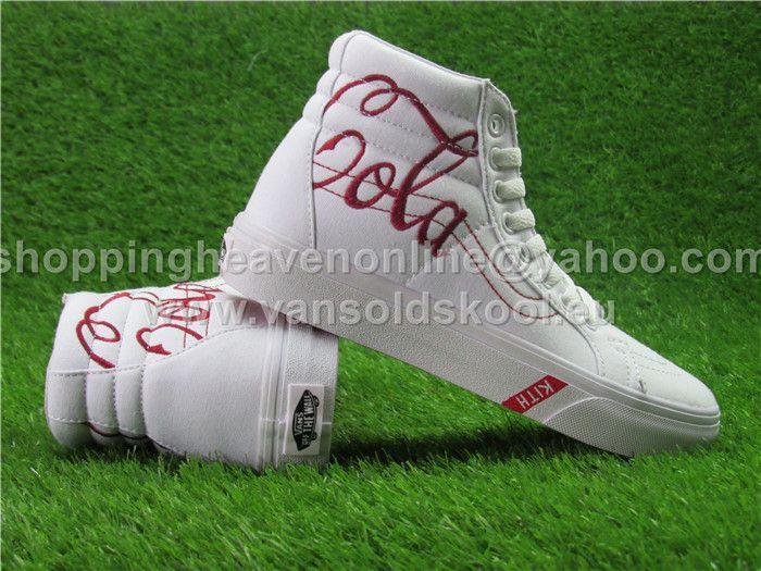 81473e8a184cc8 2017 KITH x Coca-Cola x Vans SK8 Hi White 114 Skateboard Shoes 35-44 ...