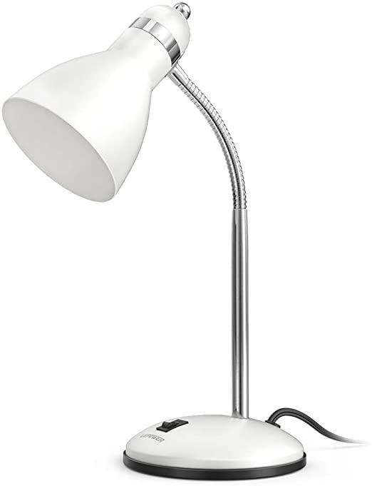amazon: lepower metal desk lamp, adjustable goose neck table lamp, eye-caring study desk