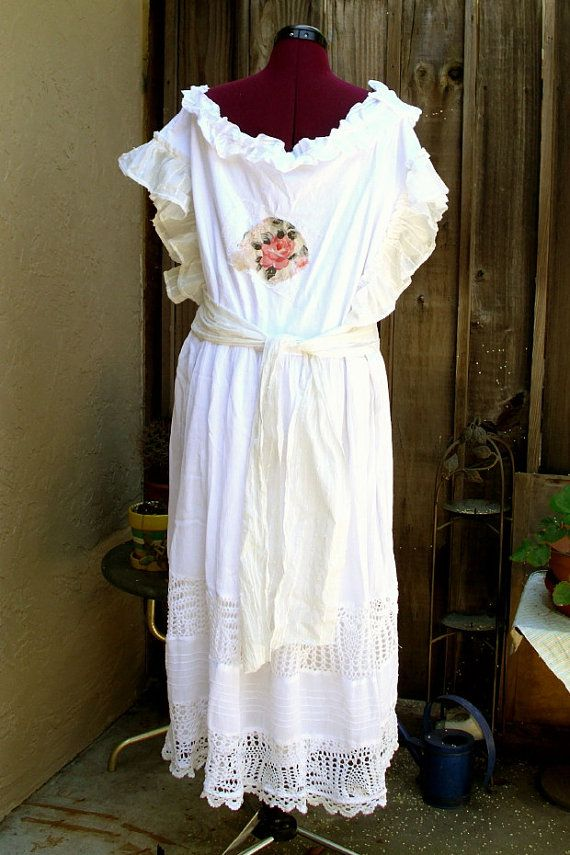 Rustic French Country Dress Bohemian Wedding Dress Plus Size Mori