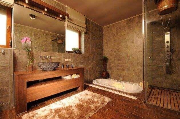 baño con tina Baths + Pools + Springs Pinterest Bath and Mansion