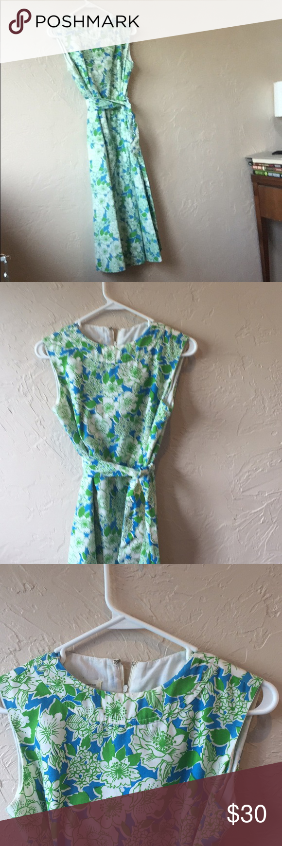 Vintage garden party dress with matching scarf | Vintage garden ...