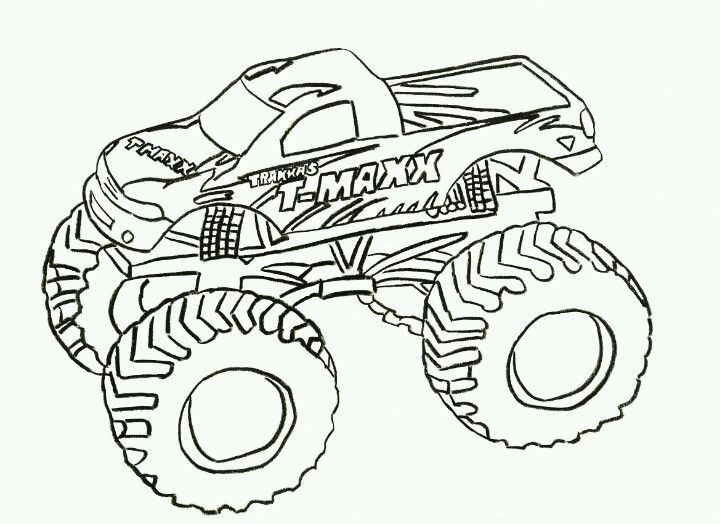 Monster truck coloring page | monster truck | Pinterest