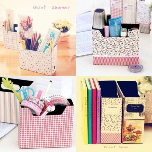 DIY Hot Makeup Cosmetic Stationery Paper Board Storage Box Desk Decor Organizer & DIY Hot Makeup Cosmetic Stationery Paper Board Storage Box Desk ...