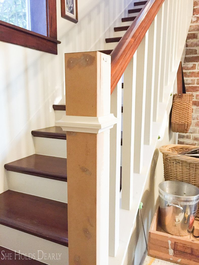 Best Farmhouse Newel Post Makeover Newel Posts Stair 400 x 300