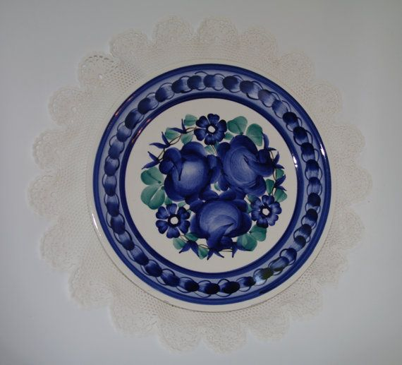 Vintage Decorative Polish Plate Hand Painted By