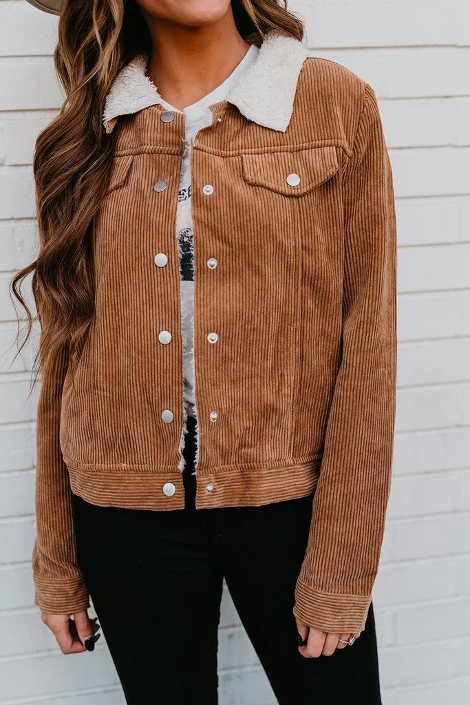 The carver corduroy jacket in caramel 1
