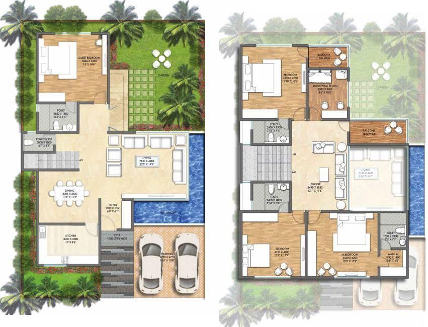 One bedroom villa plans google search ideas para mi for Villas pequenas