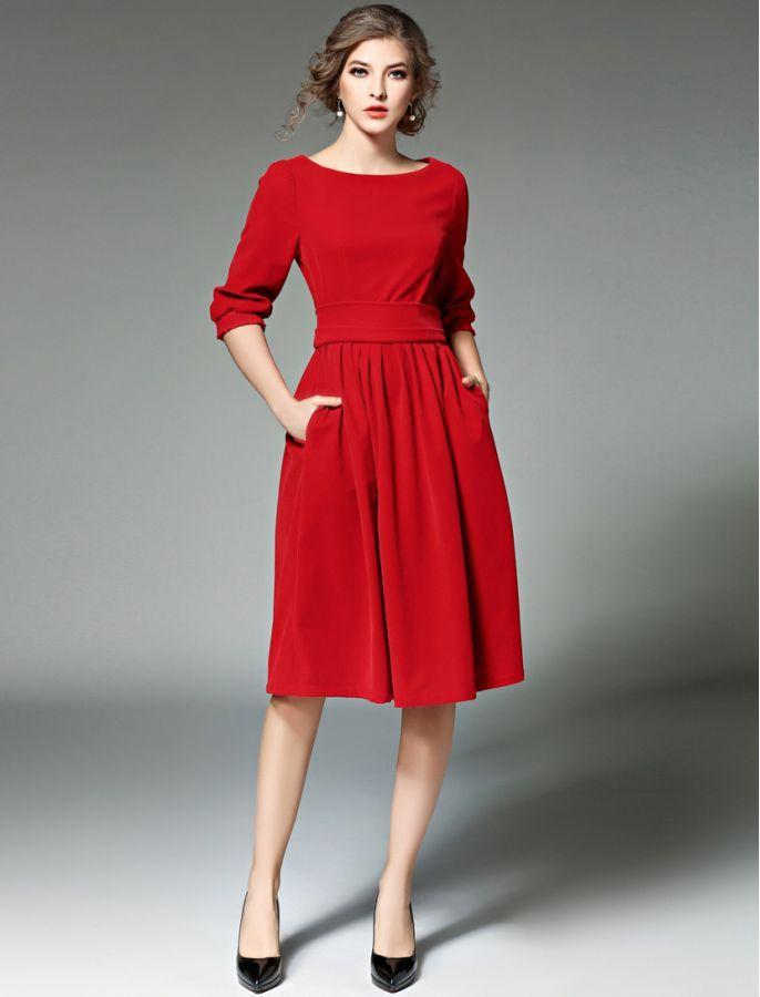 b2f4723e72 Simply Stunning Vintage Style Retro Inspired Velvet Midi Dress