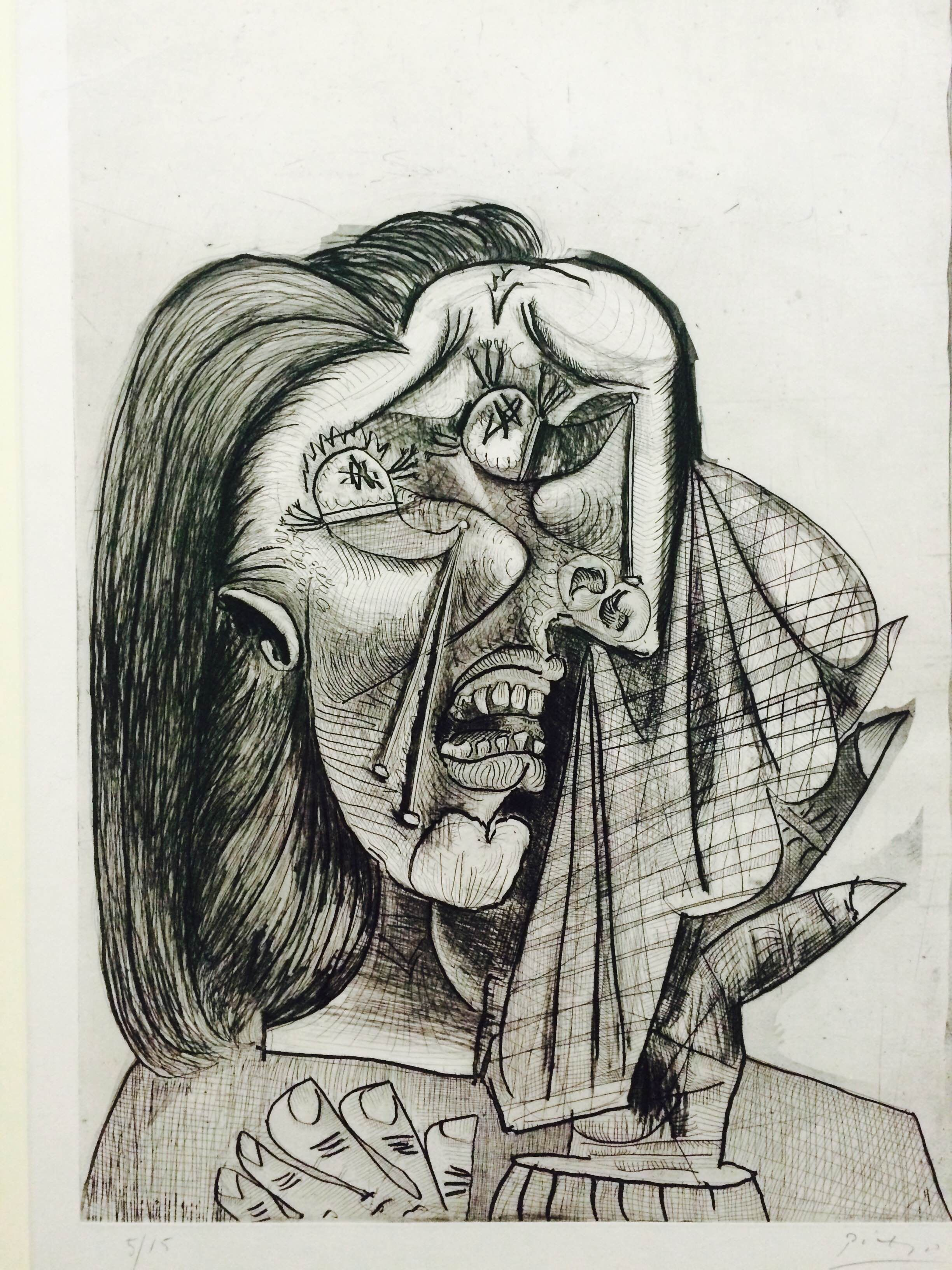 Pablo Picasso 1881 1973 Weeping Woman Frypoint Aquatint And Etching On Paper Picasso Sketches Picasso Art Pablo Picasso Art