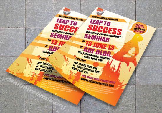 Free Adobe Illustrator Promotional Flyer Template Red Orange - Promotional brochure template