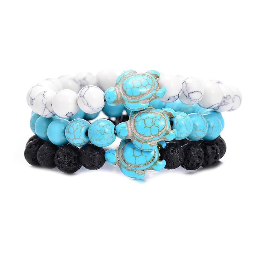 Style Turtle Bracelet Stretch Bracelets Turquoise Turtle Bracelets Women