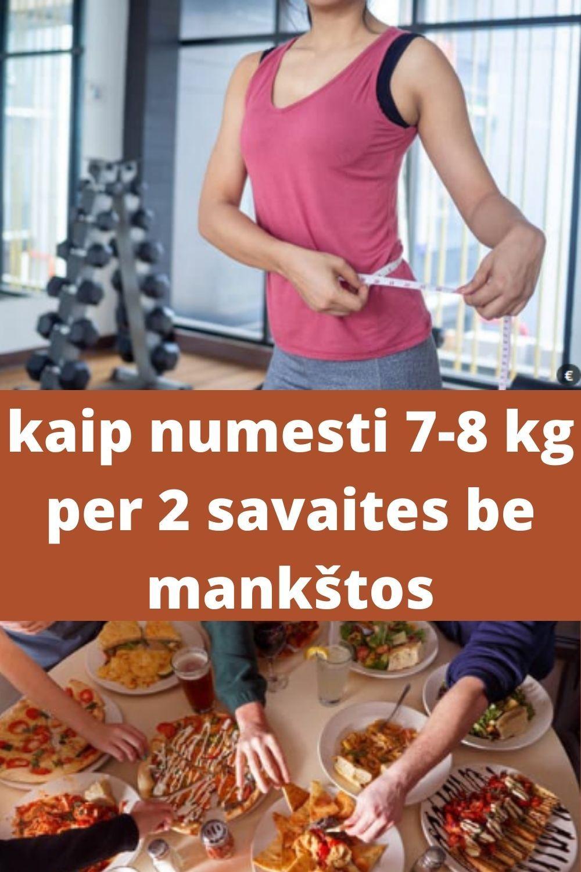 reikšmingas svorio metimas nemėginant