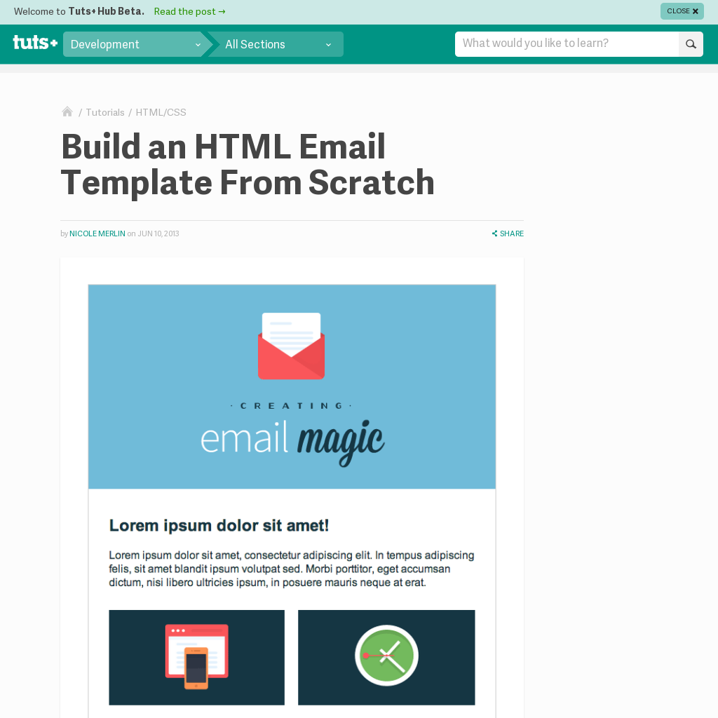 Email Template Design Tutorial Web Design Tutorials Pinterest - Build an html email template from scratch