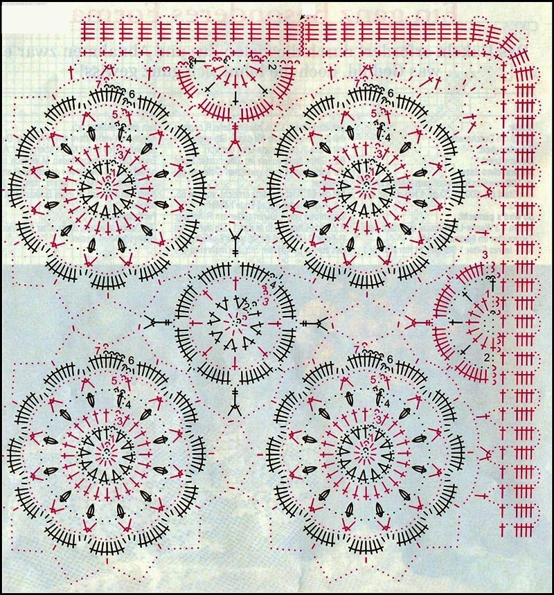 Pattern for Tablecloth | ARTE | Pinterest | Ganchillo gráfico ...