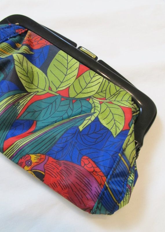 Vintage Mini HAWAIIAN Hibiscus Clutch by JLVintage on Etsy, $14.00