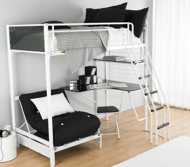Single Bunk Bed With Desk Underneath Bunk Bed With Desk