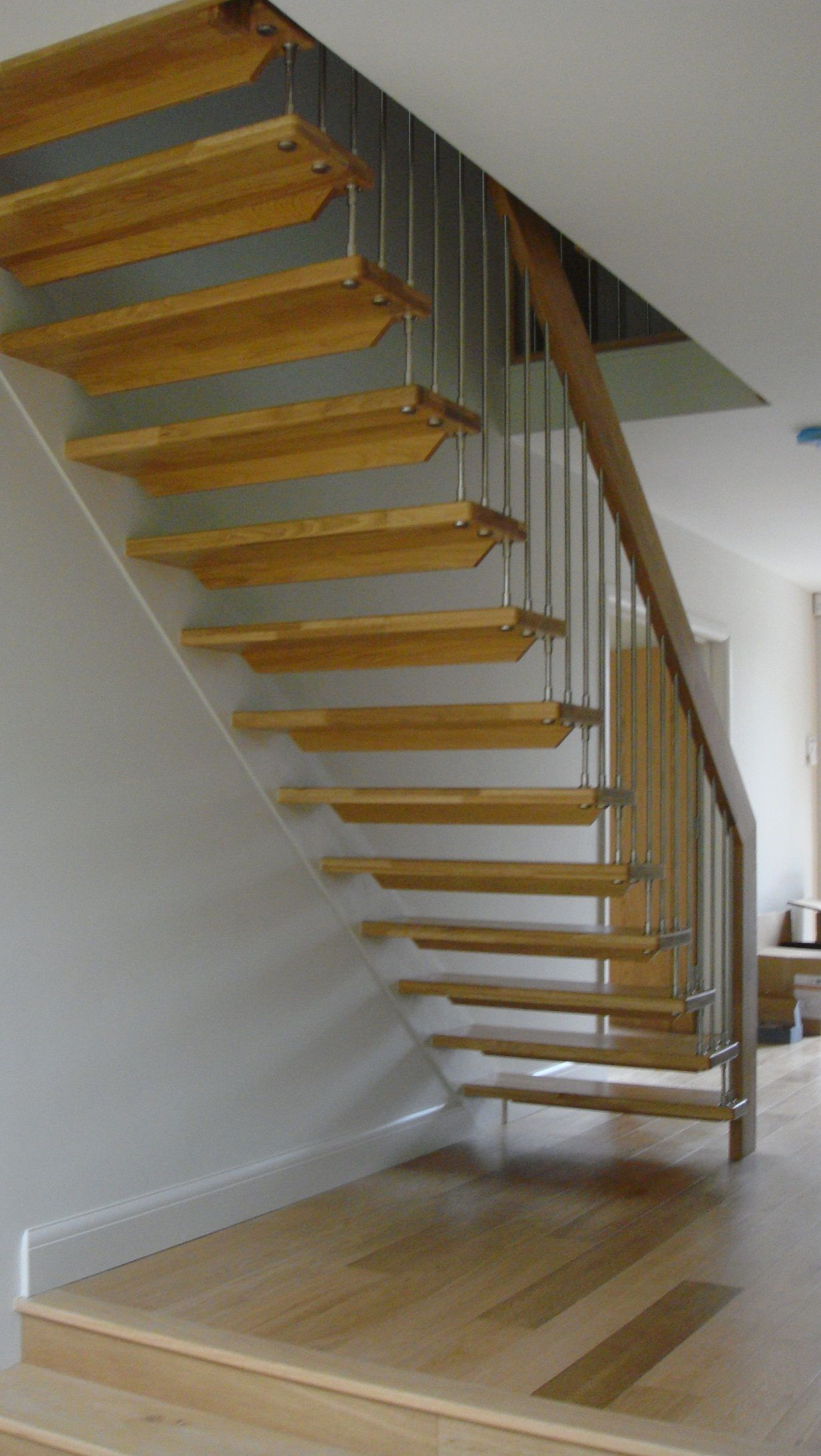 Another Open Staircase Idea; Also Like The Floors
