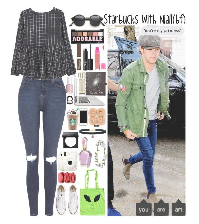 """""""Starbucks with Niall(bf) [requests??]"""" by rosita562 ❤ liked on Polyvore featuring Topshop, MANGO, NYX, Payne, Essie, Rimmel, NARS Cosmetics, MAC Cosmetics, Converse and Bobbi Brown Cosmetics"""