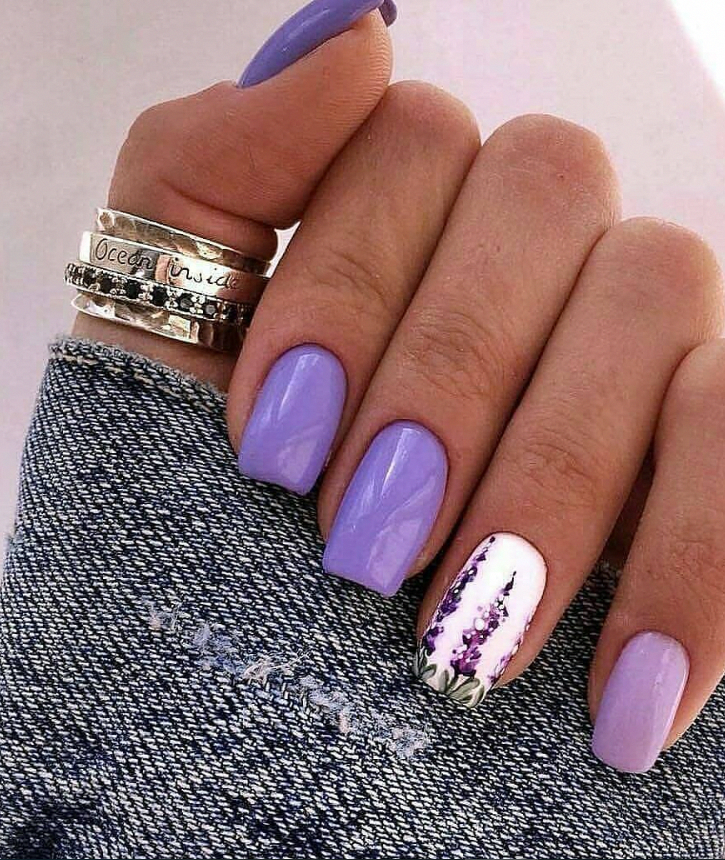 Purple Natural Square Nails Short Short Nails Design Short Nails Acrylic Acrylic Nail Short Acrylic Nails Designs Short Acrylic Nails Purple Acrylic Nails