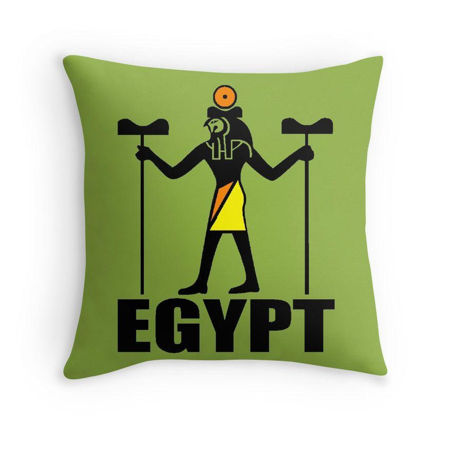 """EGYPT-2"" Throw Pillows by IMPACTEES   Redbubble"