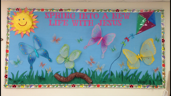 Spring Into A New Life With Jesus Bulletin Board Bulletin Board
