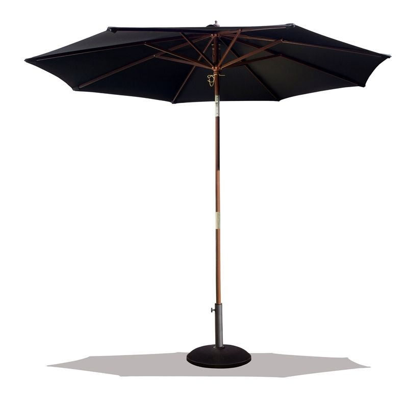 Find Mimosa 3m Charcoal Wooden Frame Market Umbrella at Bunnings ...