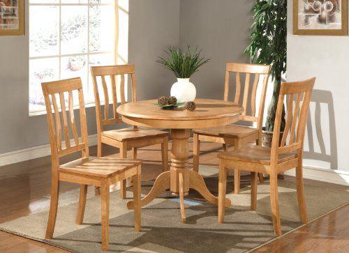 East West Furniture Anti3Oakw 3Piece Kitchen Table Set Oak Simple 3 Piece Kitchen Table Set Design Ideas