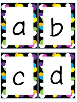 photo regarding Letter Flashcards Printable named Funds Letter and Lowercase Letter Flashcards Creations