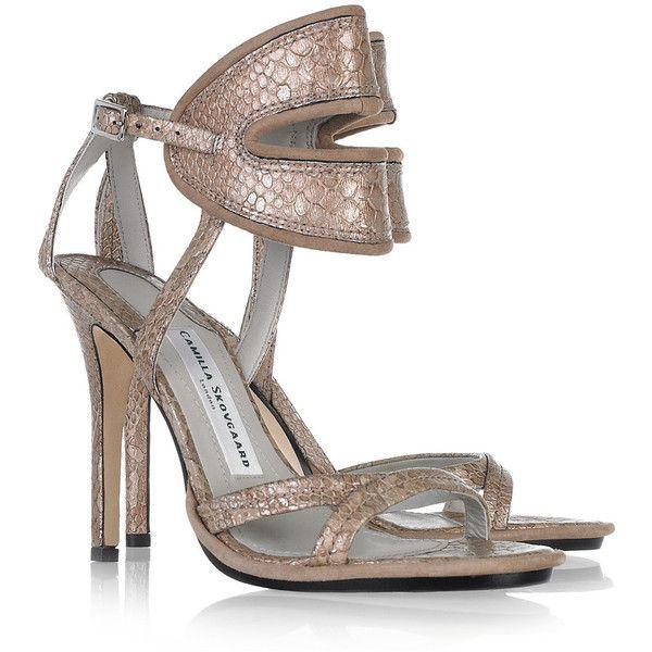 Camilla Skovgaard Snake-effect leather sandals