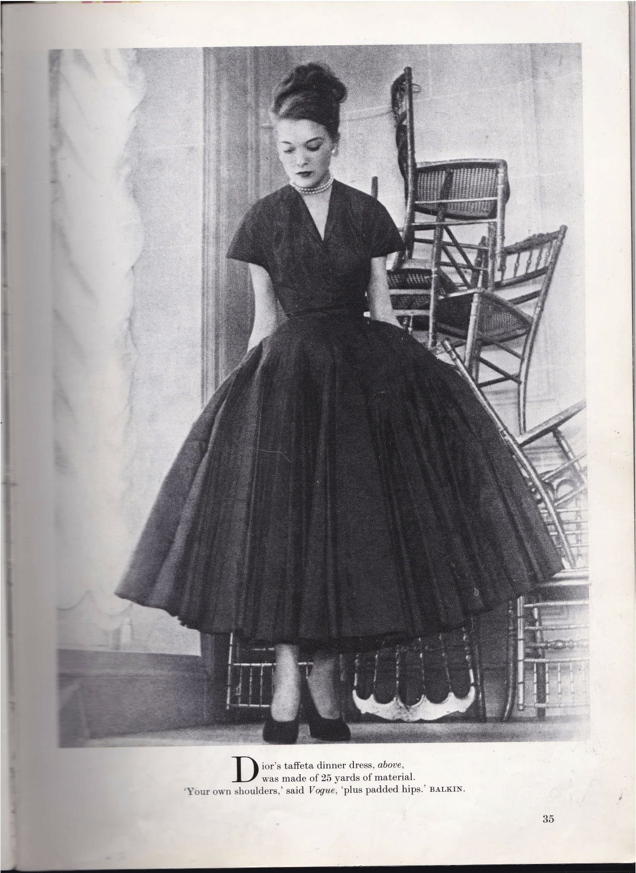 f9fd2d69f70 Scan from Dior in Vogue 1947 The New Look