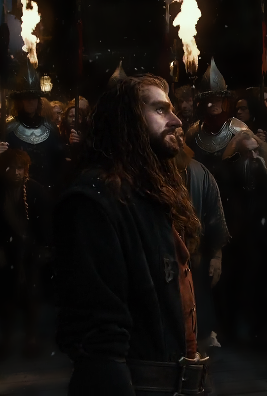 Thorin in Lake Town. The Hobbit: The Desolation of Smaug