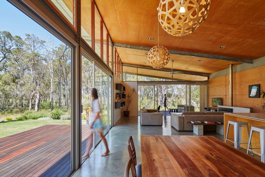 bush house is inspired by the feelings of camping interiors rh pinterest com